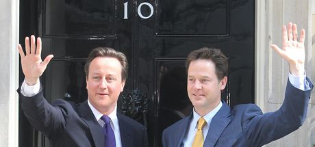 Clegg and Cameron Downing Street