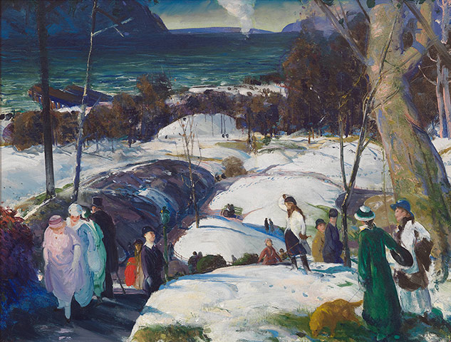 George Bellows, Easter Snow, 1915
