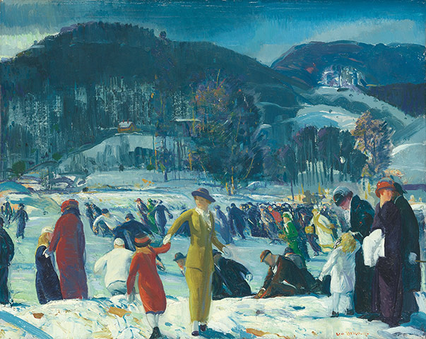 George Bellows, Love of Winter, 1914 Photograph: George Bellows/The Art Institute of Chicago, Friends of American Art Collection