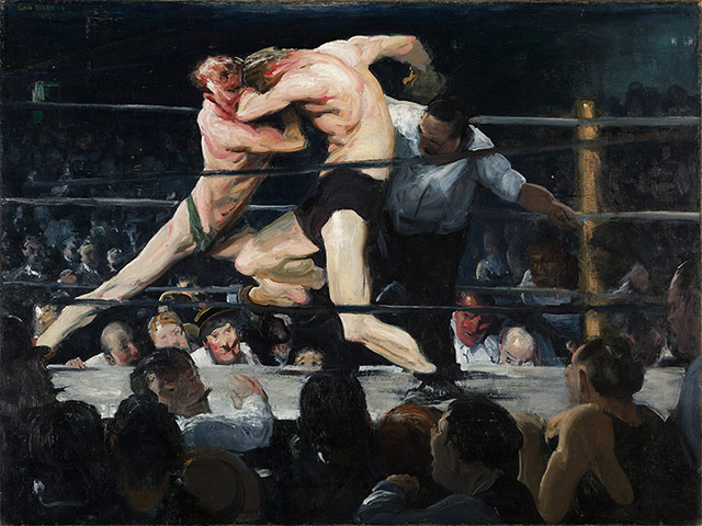 George Bellows, Stag at Sharkey's, 1909